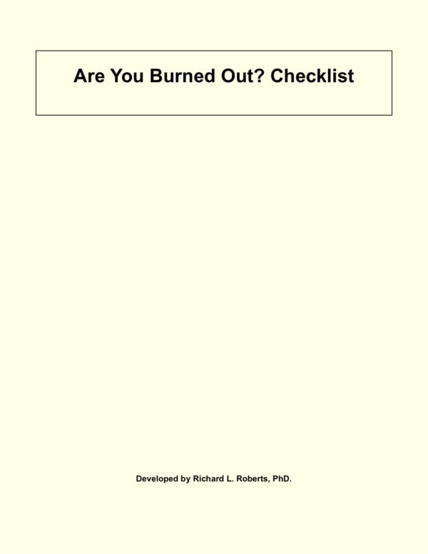 Test for burnout