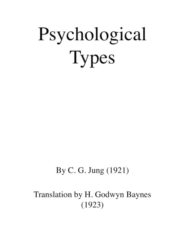 Jung Personality Types