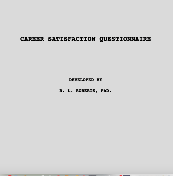 Career Satisfaction Questionnaire